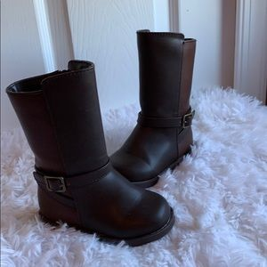 EUC Gymboree toddler two tone brown riding boots 6